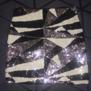 Beautiful Sequined Miniskirt